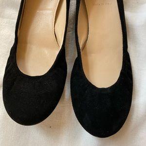 J. Crew Cece Ballet Flats 8 Black Suede